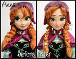 repainted ooak limited edition snow gear anna doll