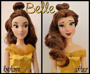repainted ooak princess belle doll.