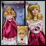 repainted ooak singing pink dress cinderella doll.
