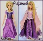 repainted ooak singing rapunzel doll.
