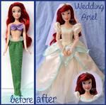 repainted ooak wedding ariel doll.