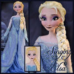 repainted ooak singing elsa doll.