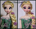 repainted ooak frozen fever limited edition elsa.