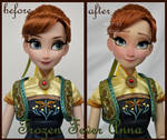 repainted ooak limited edition frozen fever anna.