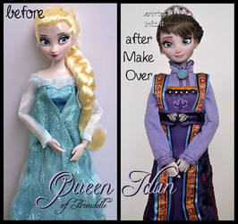 repainted ooak queen idun of arendelle doll. by verirrtesIrrlicht