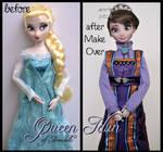 repainted ooak queen idun of arendelle doll.