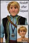 repainted ooak limited edition kristoff doll.