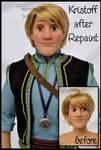 repainted ooak limited edition kristoff doll. by verirrtesIrrlicht