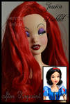 repainted ooak jessica rabbit doll.