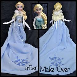 repainted ooak designer snow queen elsa doll. by verirrtesIrrlicht