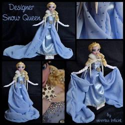 repainted ooak designer snow queen elsa doll.