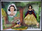repainted ooak signature snow white doll.