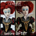 repainted ooak red queen iracebeth doll.