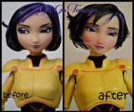 repainted ooak go go tomago doll from big hero 6.