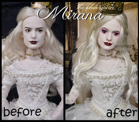 repainted ooak the white queen mirana doll.