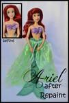 repainted ooak the little mermaid ariel doll.