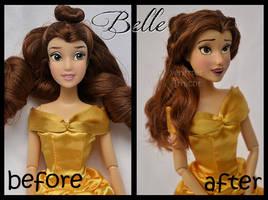 repainted ooak classic belle doll.