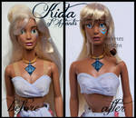 repainted ooak princess kida of atlantis doll.