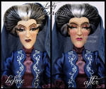 repainted ooak designer lady tremaine doll.