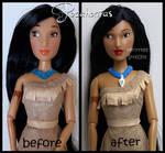 repainted ooak pocahontas doll.