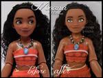 repainted ooak classic moana / vaiana doll.