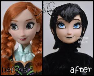 repainted ooak dracula's daughter mavis doll.