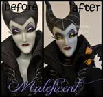 repainted ooak designer maleficent doll.