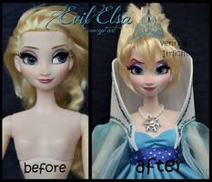 ooak limited edition frozen concept art evil elsa.