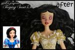 repainted ooak sleeping snow white doll.