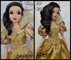 repainted ooak fairy tale snow white doll.