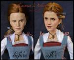 repainted ooak emma watson as peasant belle doll.