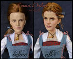 repainted ooak emma watson as peasant belle doll.