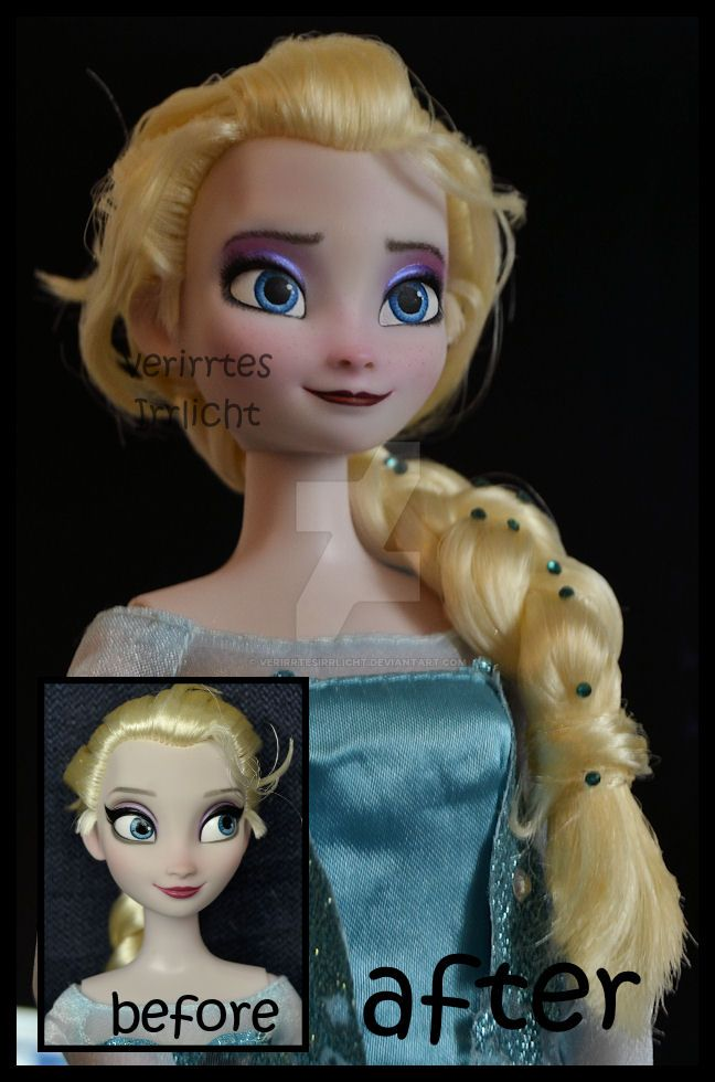 repainted ooak snow queen elsa doll. by verirrtesIrrlicht
