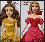 repainted ooak claudette doll.