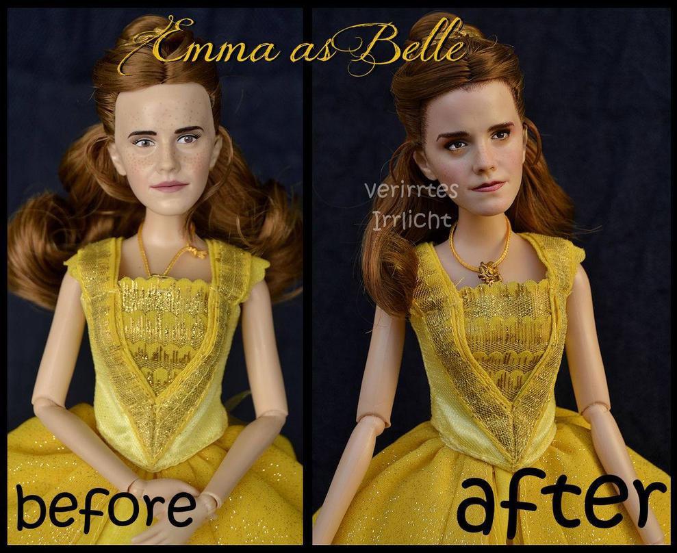 repainted ooak emma watson as belle. by verirrtesIrrlicht