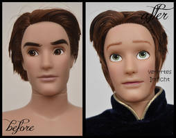 repainted ooak limited edition hans doll.