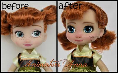 repainted ooak mini animators anna doll.