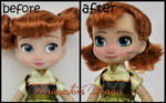 repainted ooak mini animators anna doll.