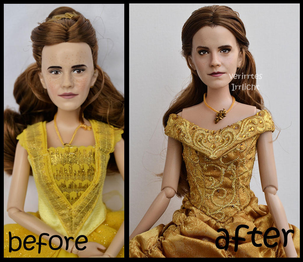 Repainted Ooak Classic Emma Watson As Ball Belle By Verirrtesirrlicht On Deviantart