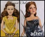 repainted ooak emma watson doll.