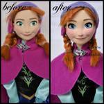 repainted ooak disney on ice anna doll.