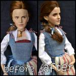 repainted ooak emma watson as peasant belle doll. by verirrtesIrrlicht