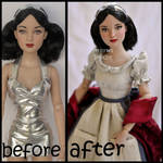 repainted ooak tonner wishing well snow white doll