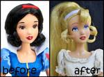 repainted ooak thumbelina doll.