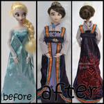 repainted ooak queen idun / iduna doll.