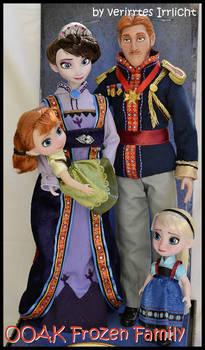 repainted ooak royal frozen family.