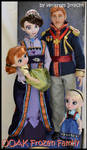 repainted ooak royal frozen family.
