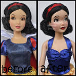repainted ooak snow white doll.