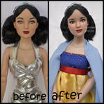 repainted ooak tonner snow white doll.