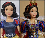 repainted ooak classic snow white doll.